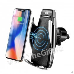 Suport auto cu incarcator Wireless si senzor inteligent S5