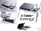 E Table masa laptop cu coolere, suport pahar si mouse pad