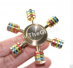 Fidget Spinner Rainbow, in cutie metalica