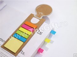 Semn de carte 3 in 1, cu post-it si liniar