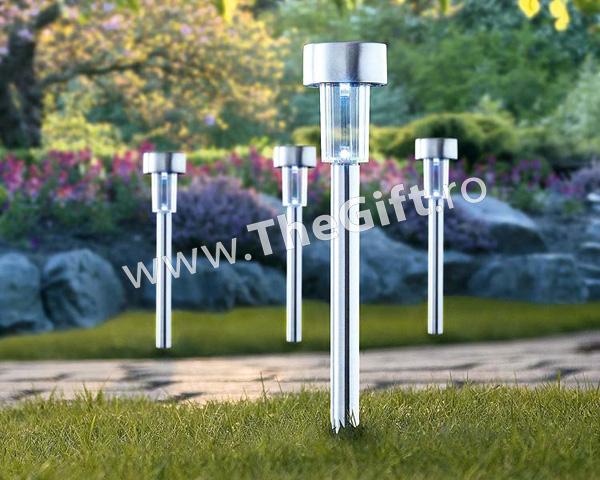 Set 4 lampi solare ecologice, pentru gradina