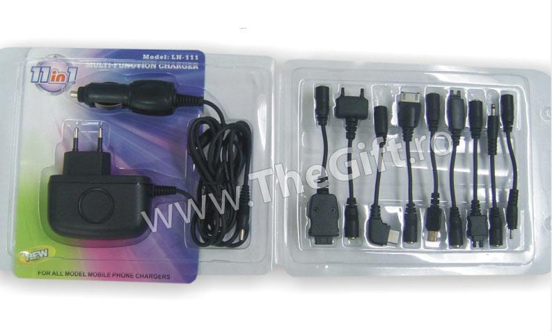 Incarcator adaptor USB/Auto/220V 11 in 1