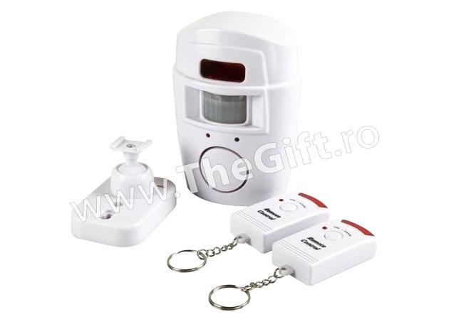 Alarma wireless, cu senzor de miscare si 2 telecomenzi