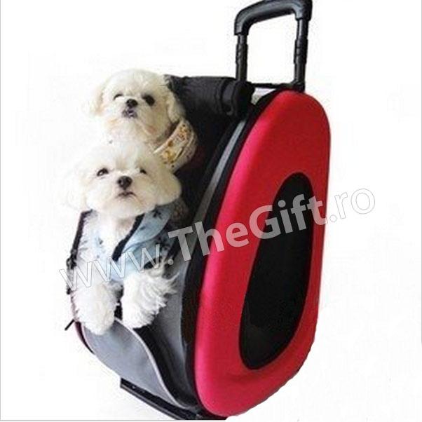 Carucior pentru transportul cainilor si pisicilor