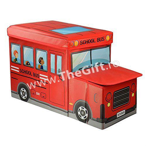 Cutie de depozitare pliabila, in forma de autobuz
