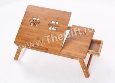 Masa multifunctionala E-Table din lemn de bambus