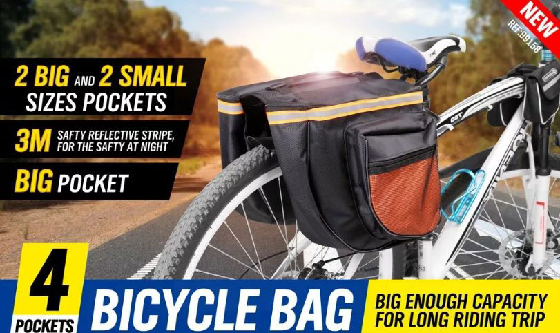 Geanta dubla impermeabiala pentru bicicleta Bicycle Bag