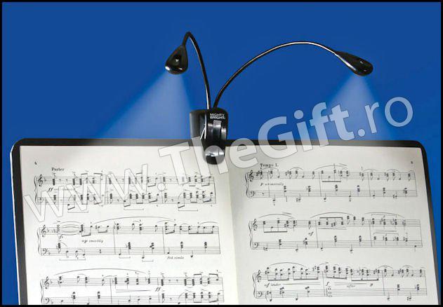 Lampa dubla cu LED-uri pentru pupitrul de note, computer, carti