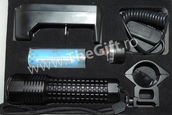 Lanterna pentru arma, cu acumulator, Bailong
