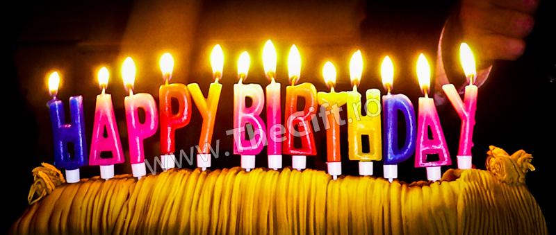 Lumanari Happy Birthday