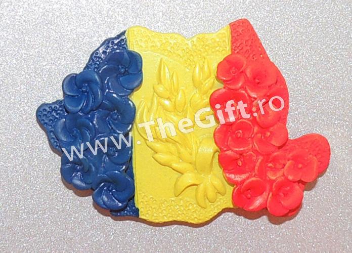 Magnet de frigider harta Romaniei 3D