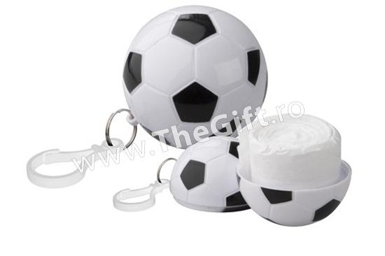 Pelerina de ploaie in breloc, minge de fotbal