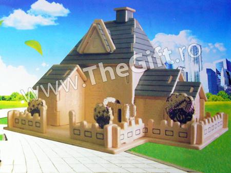 Puzzle 3D lemn Sweet House
