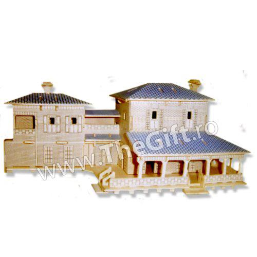 Puzzle 3D lemn Vila USA