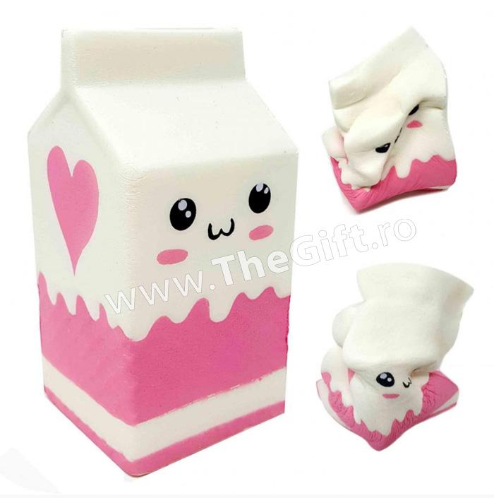 Squishy, jucarie cu revenire lenta, cutie de lapte, parfumata
