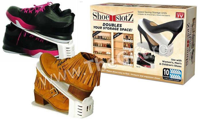 Set de 6 bucati, organizator de pantofi Shoe Slotz