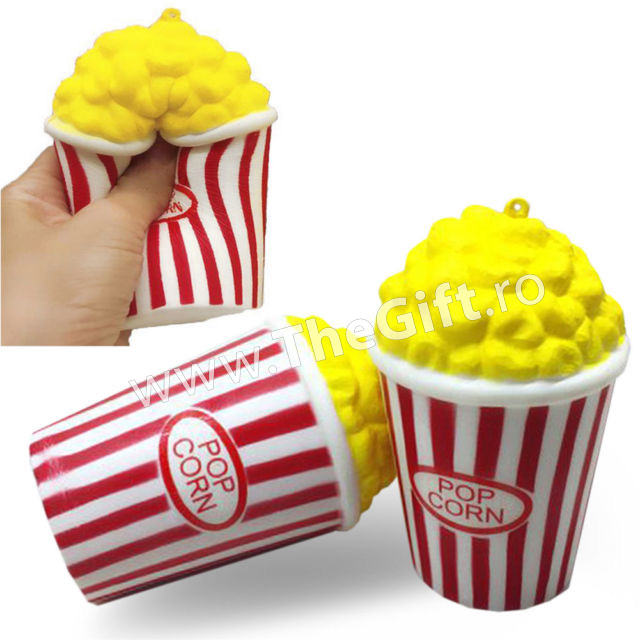 Squishy, jucarie cu revenire lenta, popcorn parfumat