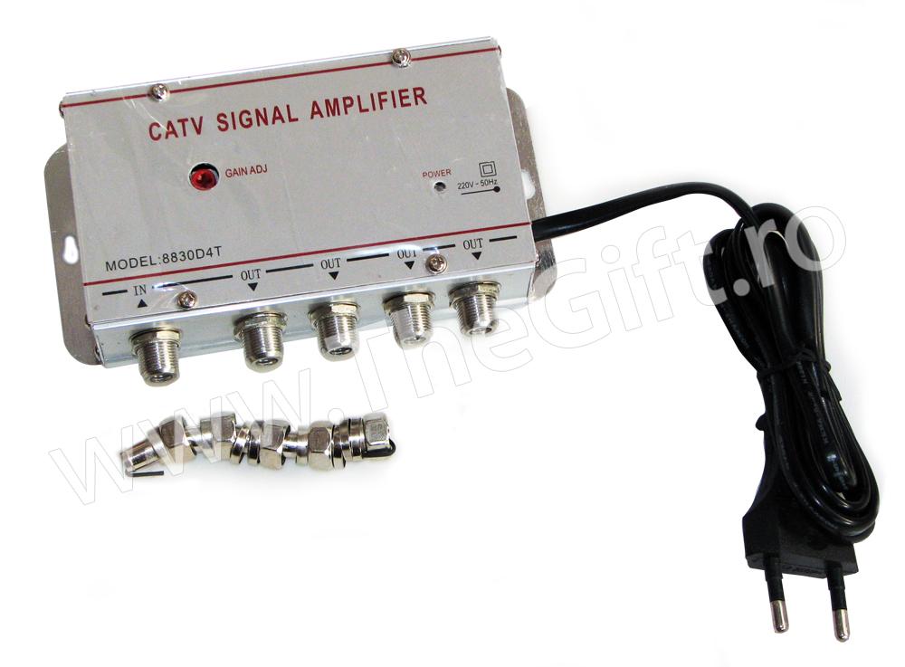 Amplificator semnal TV cu 4 iesiri