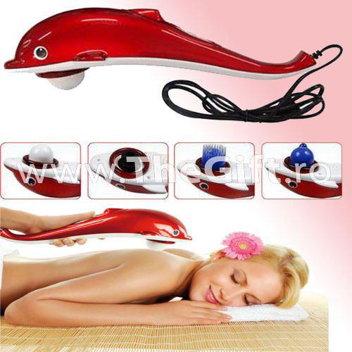 Aparat de masaj cu vibratii si infrarosu, anticelulitic, Delfin