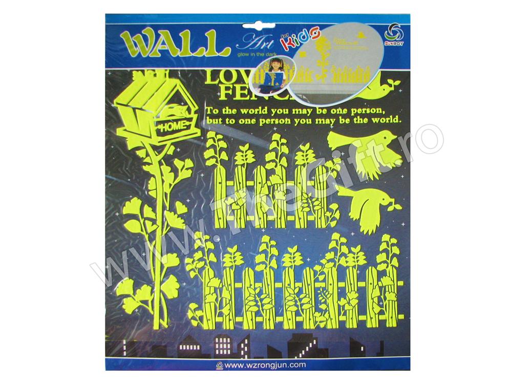 Decoratiuni autocolante de perete fosforescente Gardulete