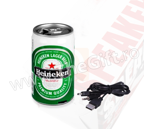 Boxa in forma de doza de bere, racoritoare