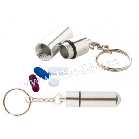 Breloc metalic, cutie de medicamente