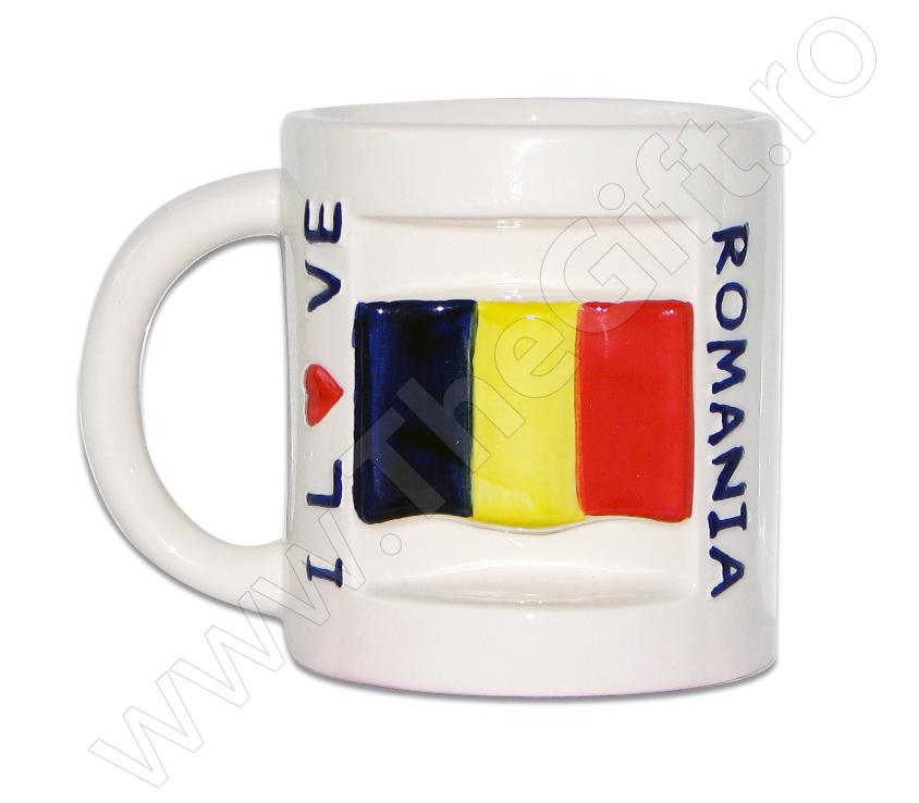 Cana suvenir I LOVE ROMANIA