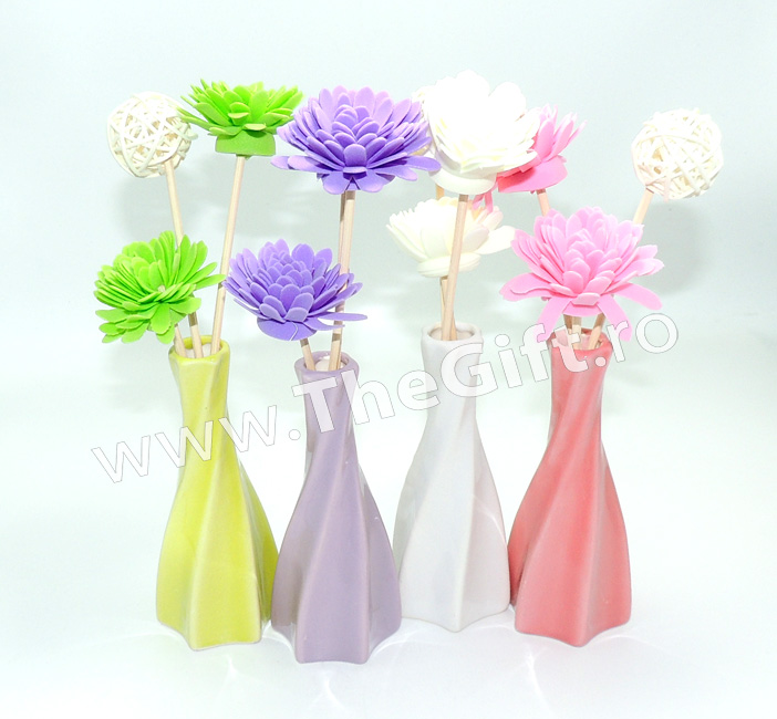 Difuzor odorizant ambiental, vaza cu flori