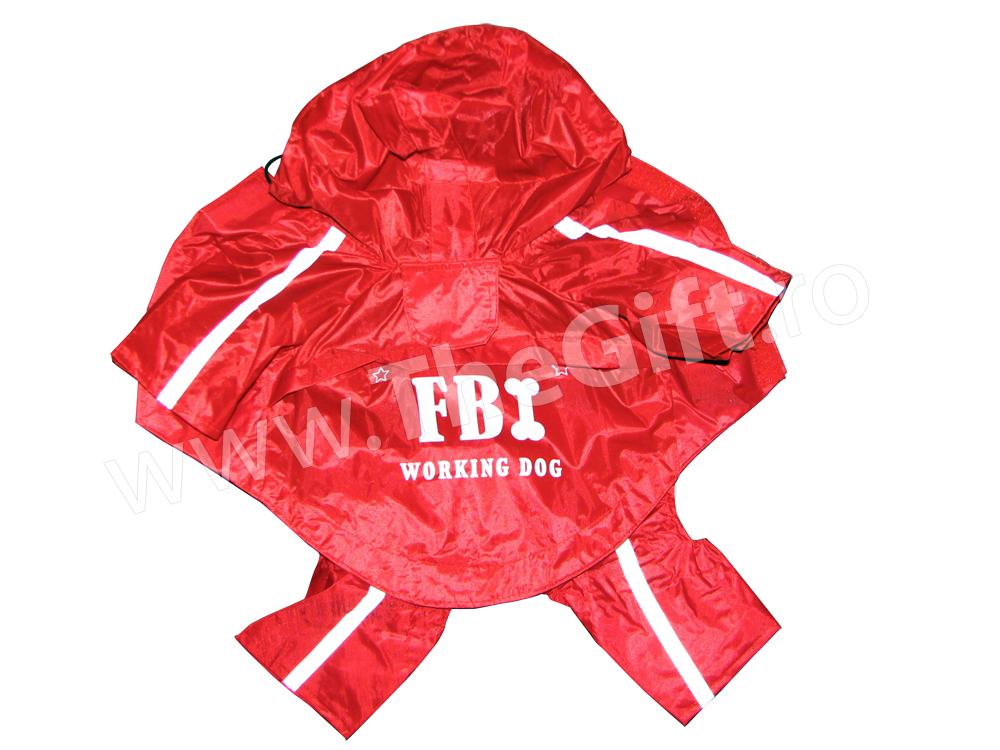 Haina de ploaie cu gluga FBI