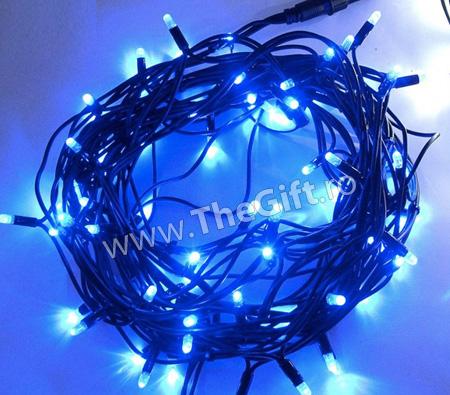 Instalatie albastra sau alba, cu 100 de becuri si 8 programe