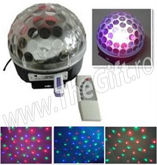 Lampa disco dinamica cu telecomanda si stick USB