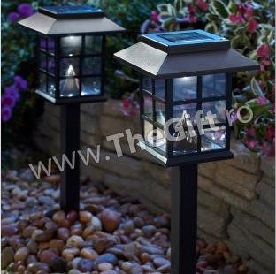 Set 2 lampi solare ecologice, pentru gradina