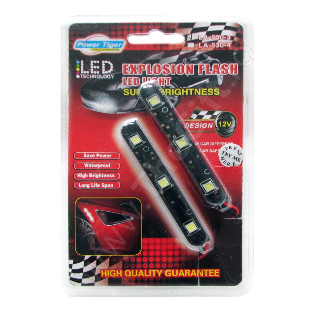 Set 3 LEDuri SMD cu lumina intermitenta