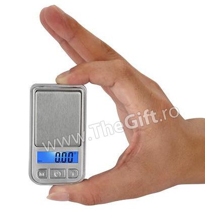 Mini cantar electronic pentru bijuterii, maxim 200 g