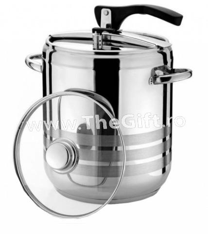 Oala sub presiune 9 litri, bonus capac de sticla termorezistenta