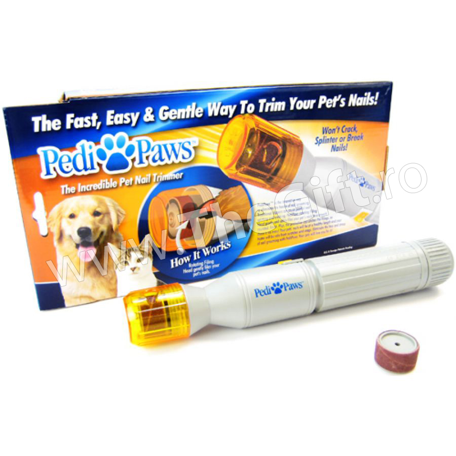 Pedi Paws - pila electrica pentru unghiile cainelui