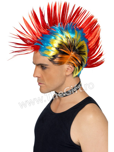 Peruca punk pentru petreceri