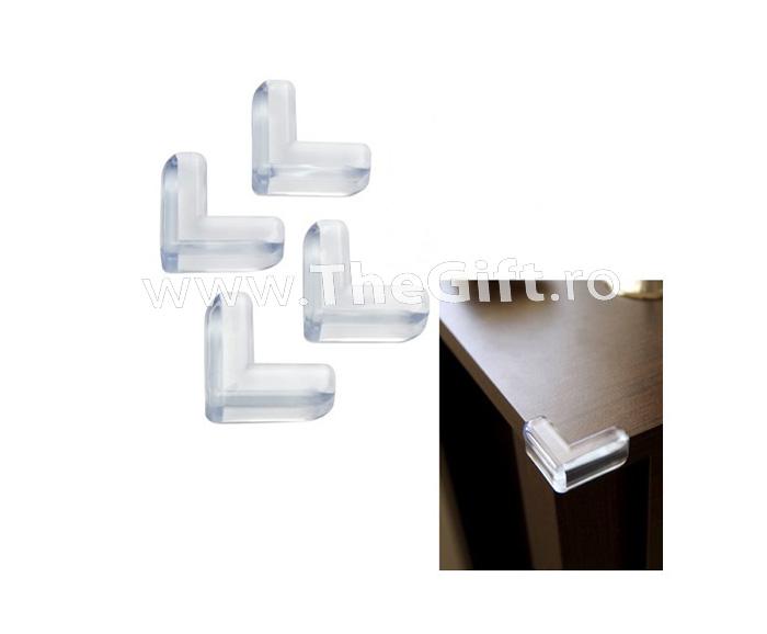Set 4 protectii silicon, pentru colturi