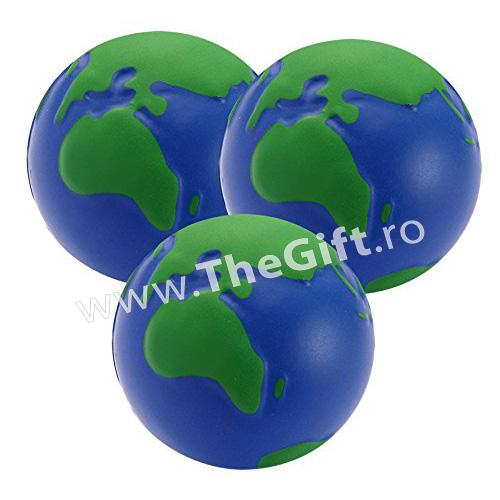 Set 3 mingi antistres, in forma de glob pamantesc