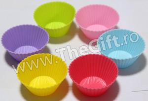 Set 6 forme din silicon, pentru briose